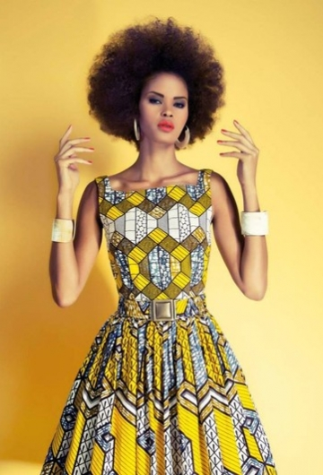 NAIROBI DRESS HONEYCOMB