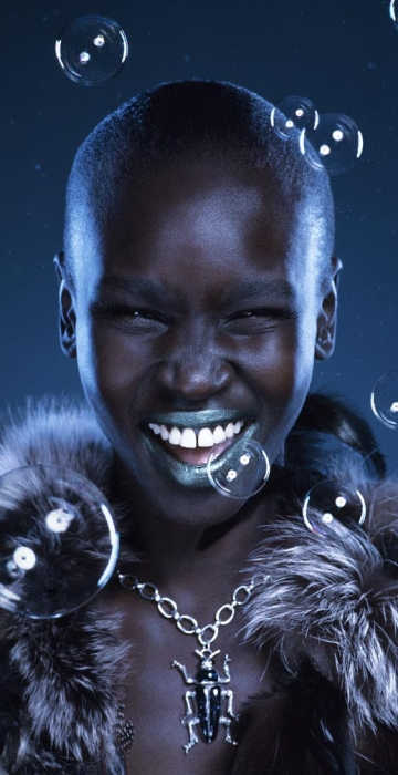 Alek Wek – Make up by Denise Rabor