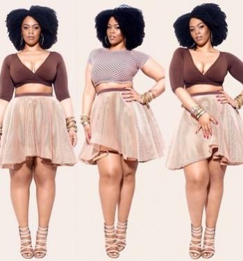 'NYDIA' Perforated Neoprene Full Skirt