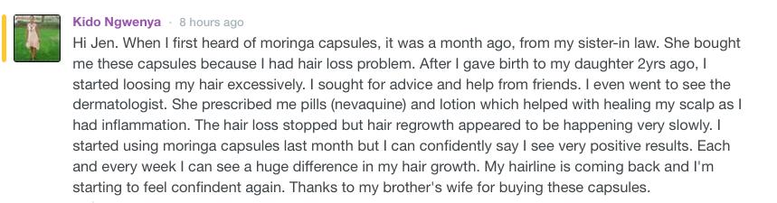 Moringa dein Haarwachstum fördert
