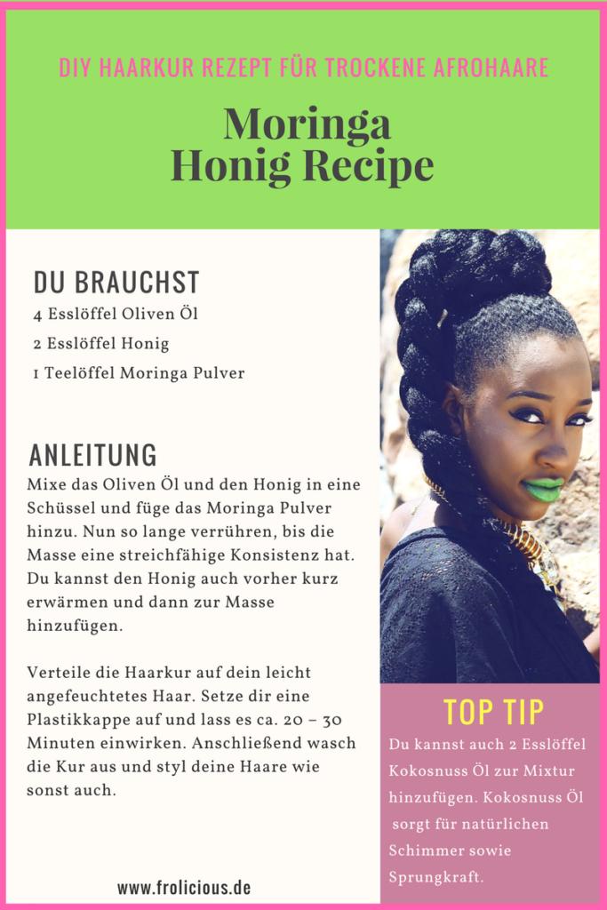 DIY Moringa Haarkur für trockene Afrohaare