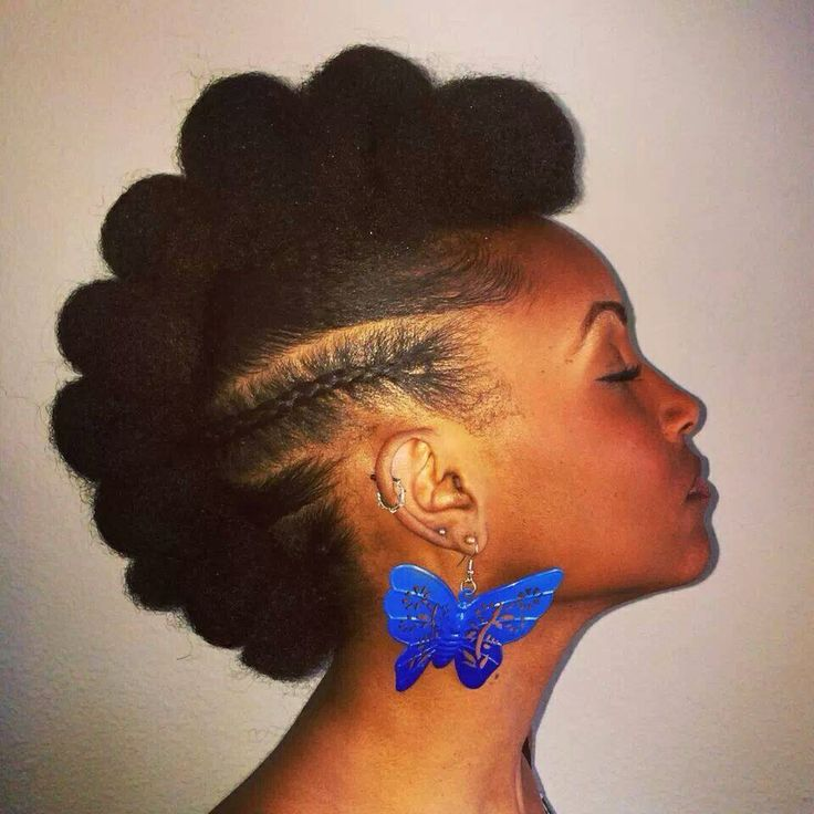 Faux Hawk or Fro Hawk  - natural hairstyles